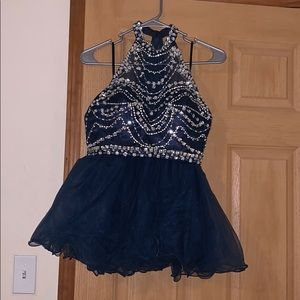 Jeweled Two Piece Homecoming Dress